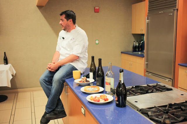 Chef Harold Dieterle cooking at Publix Apron's Cooking School