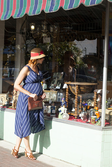 Fashion and travel blogger Amy West's outfit post on lady like liberties featuring Destination Maternity
