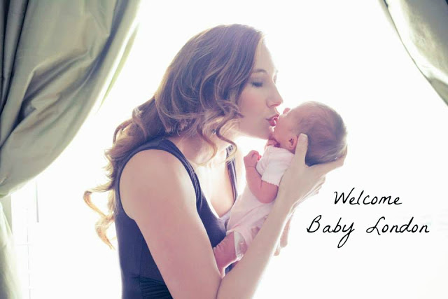 Amy West and baby London