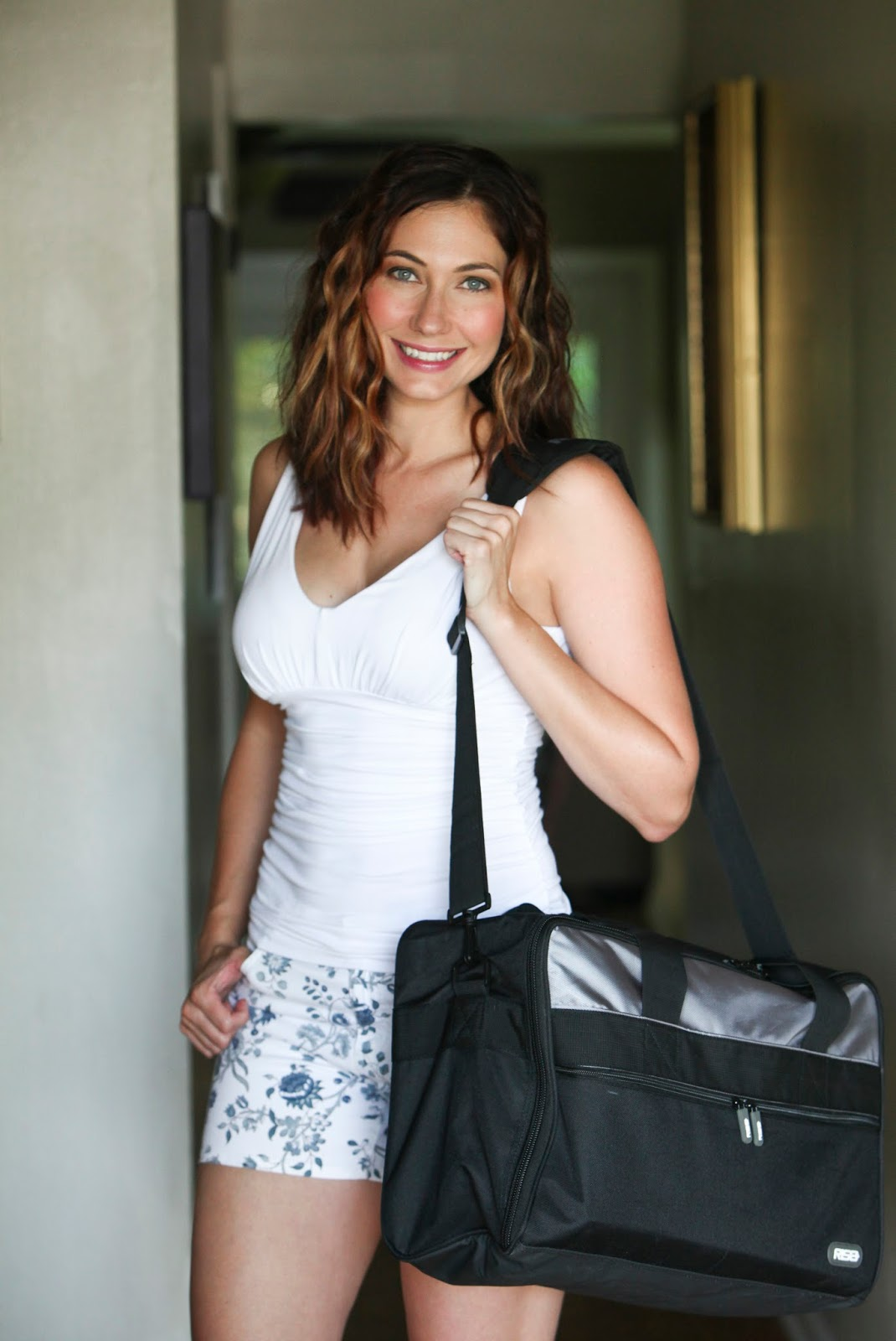 Amy West with RISE Gear Jumper Bag