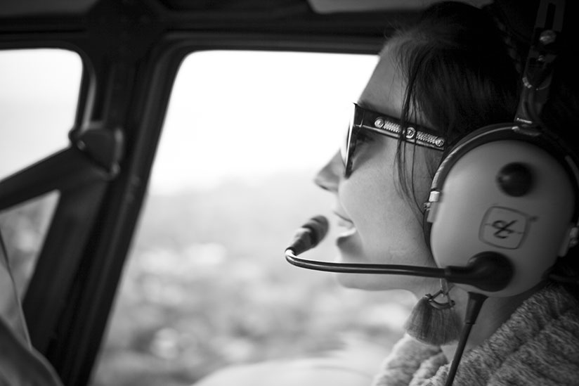 Amy West flying with Old City Helicopters of St Augustine